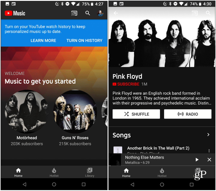 YouTube Music App Android